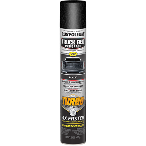 Rust Oleum Stops Rust Truck Bed Pro Grade With Turbo Spray System Includes A High Output Tip That Sprays Up To 10 Inches Truck Bed Liner Truck Bed Rustoleum