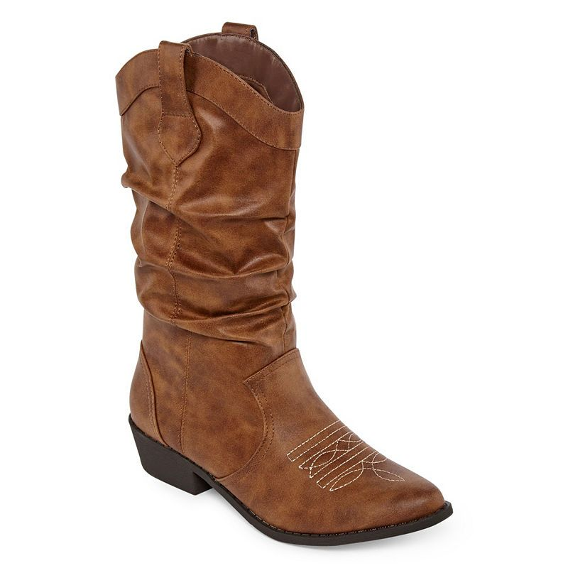 6f4344c489e Arizona Womens Molara Cowboy Boots Block Heel Pull-on | Products ...