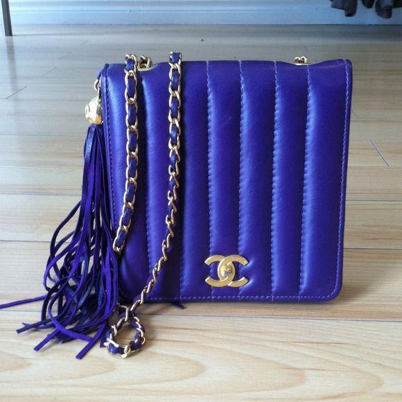 "Spotted while shopping on Poshmark: ""Purple bag""! #poshmark #fashion #shopping #style #CHANEL #Handbags"