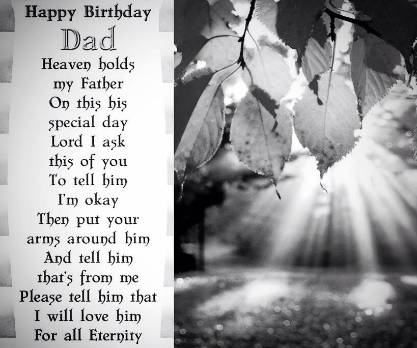 Happy Birthday Dad, In Heaven I miss you Dad in heaven