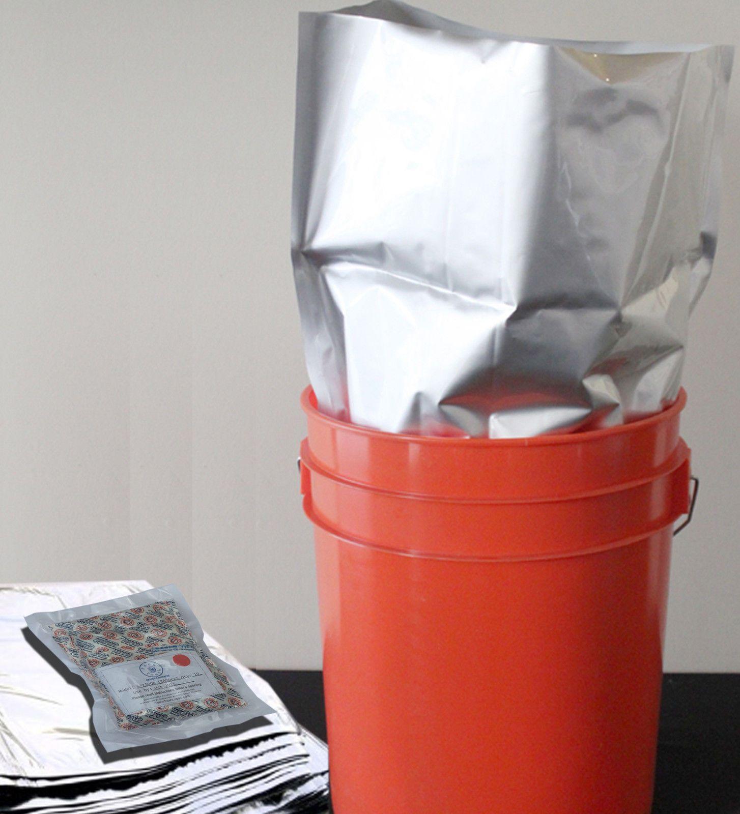 10 5 Gallon Mylar Foil Bags 10 2000cc Oxygen Absorbers