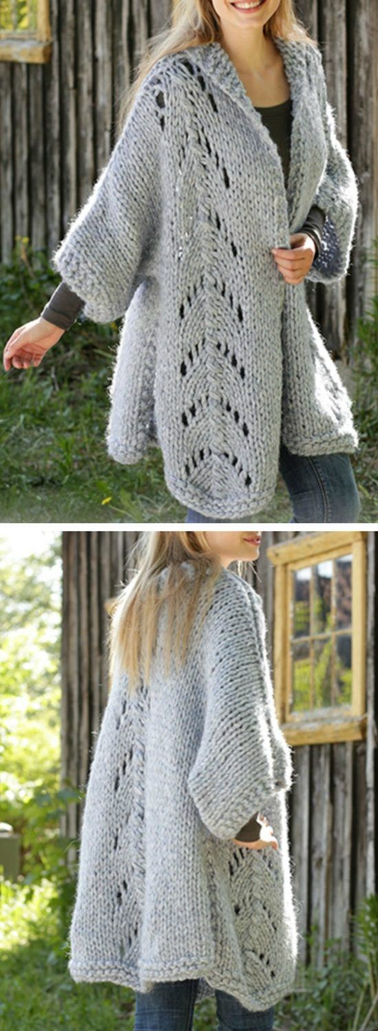 Free Knitted Cardigan Pattern For Ladies Pinterest ...