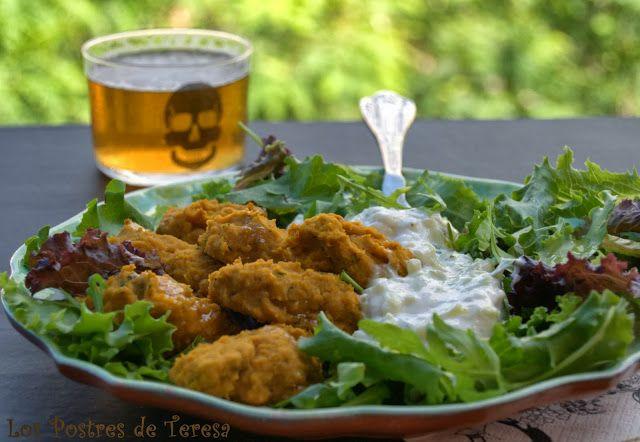 Falafels de Calabaza y Cilantro con Yogur de Pepino
