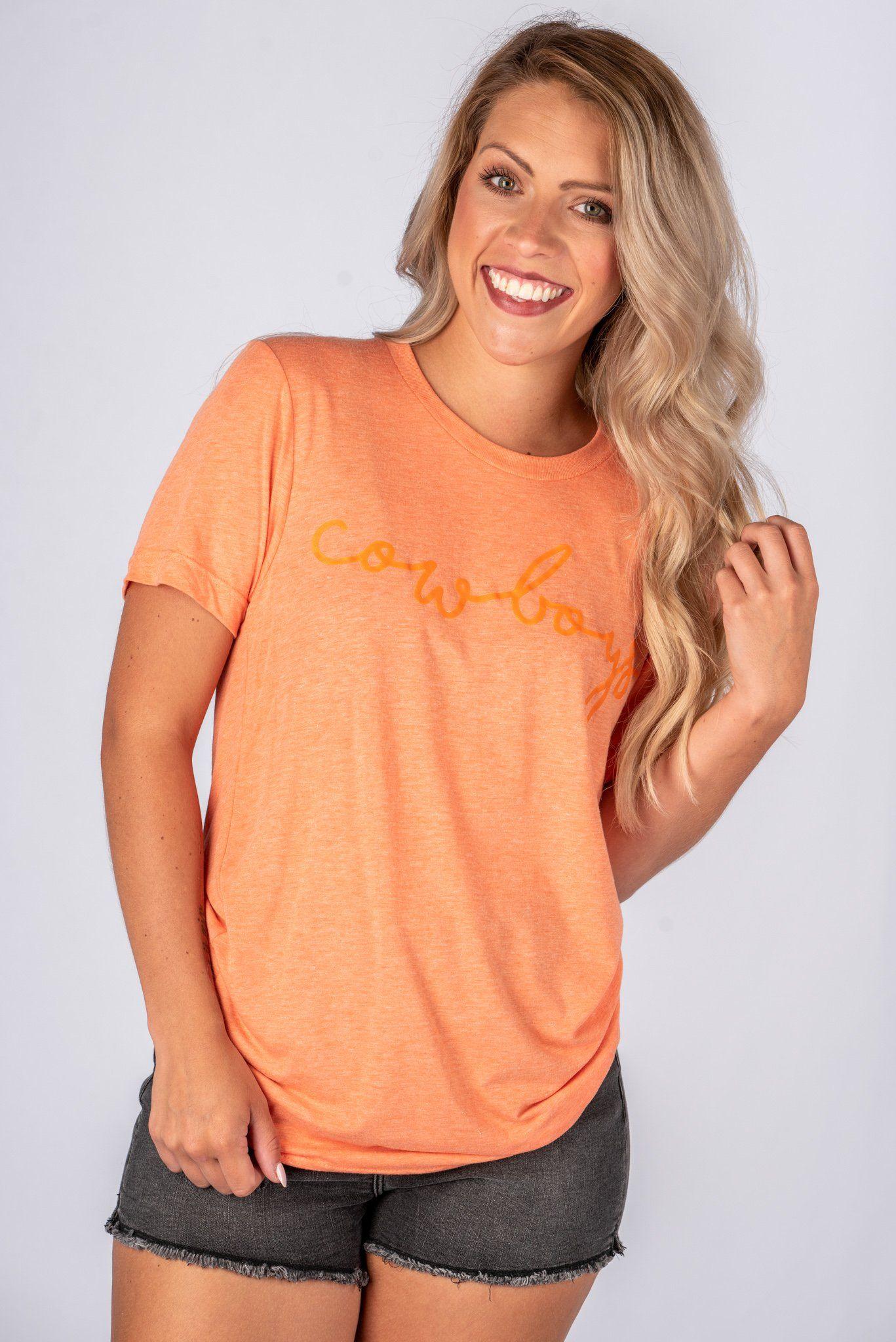 01ad82fc35f OSU Cowboys pride script unisex short sleeve t-shirt orange ...