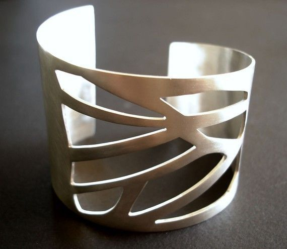 Wide geometric cuff on Etsy $162.60