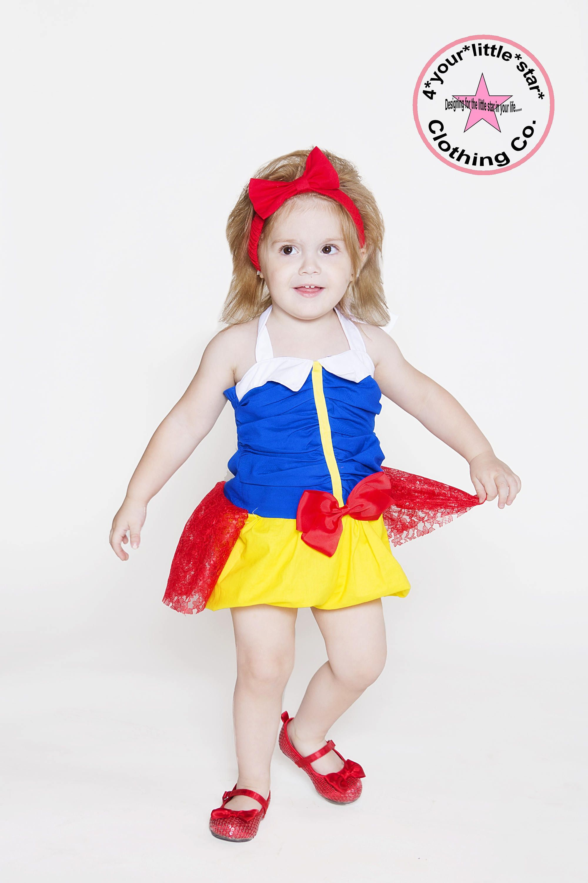 47b359c6a Disney Inspired Snow White Romper for Infants Toddlers girls size ...