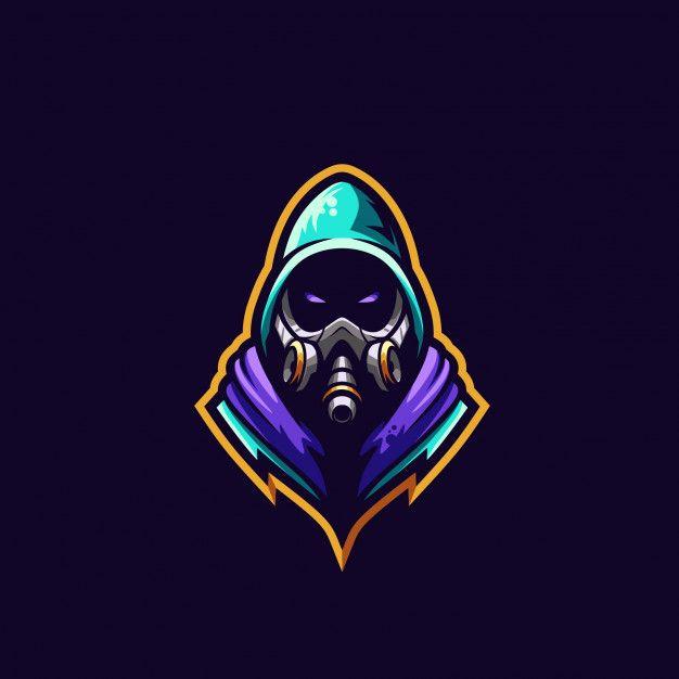 Gas Mask Logo Premium Illustration