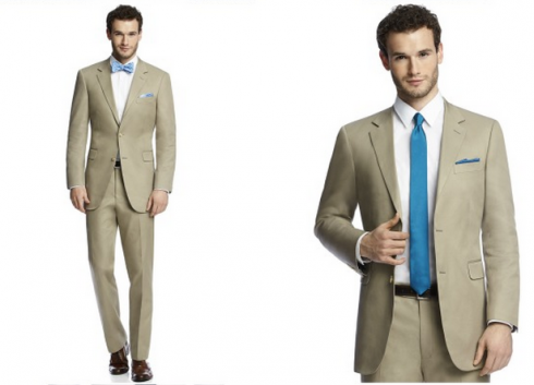 khaki lightweight summer suit for wedding | Fly Guys (Fashion and ...