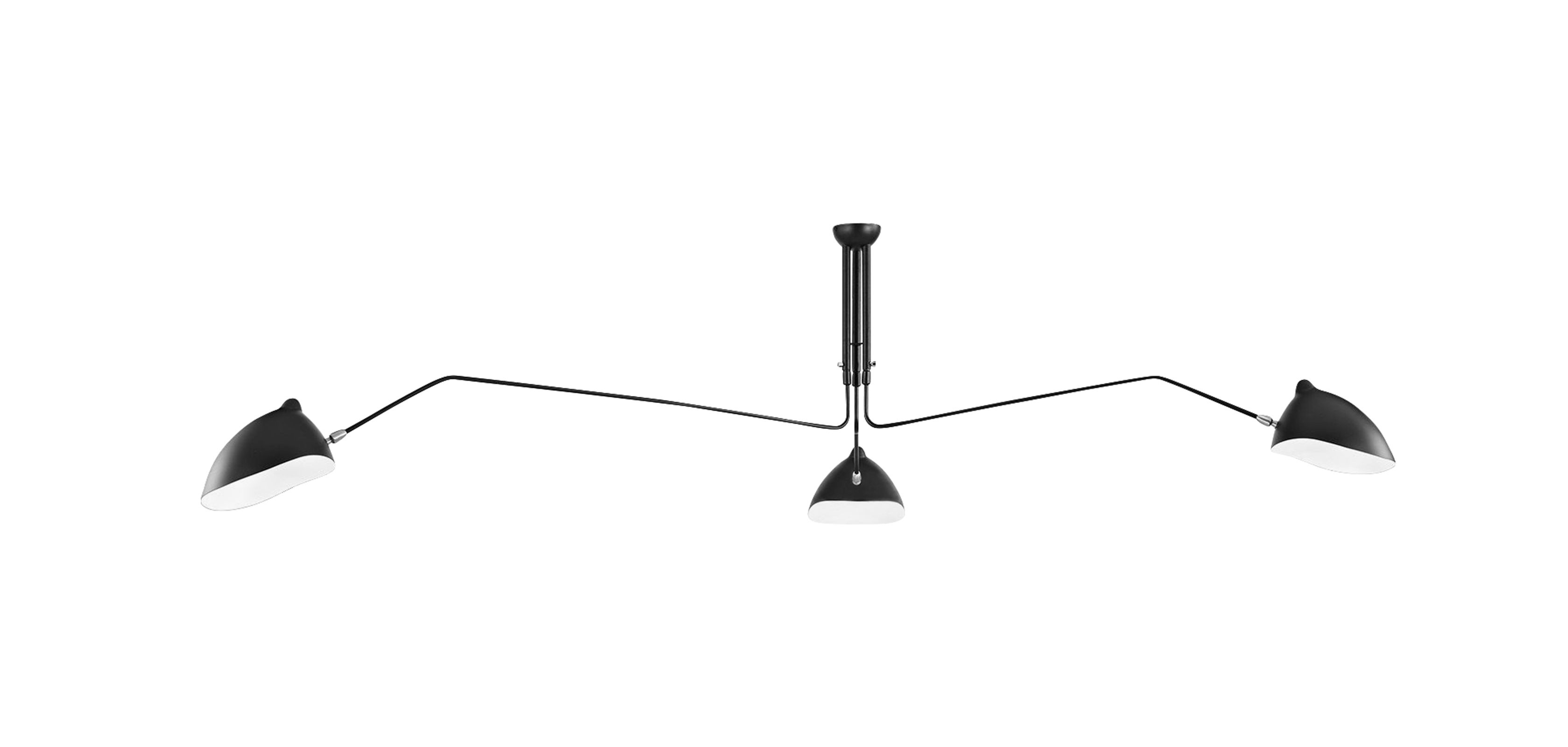 lampe suspension mcl r1 serge mouille style pas cher. Black Bedroom Furniture Sets. Home Design Ideas