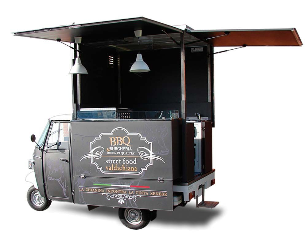 food truck ape piaggio valdichiana per vendita hamburger. Black Bedroom Furniture Sets. Home Design Ideas