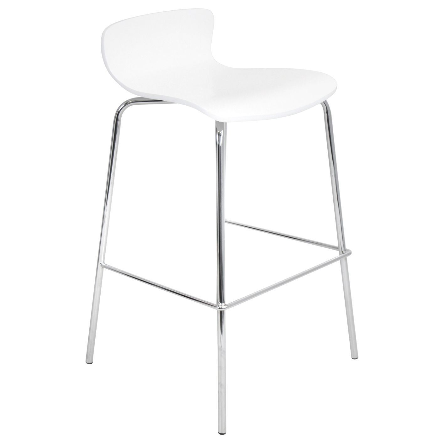 Woodstacker Barstool  Set Of 2 White