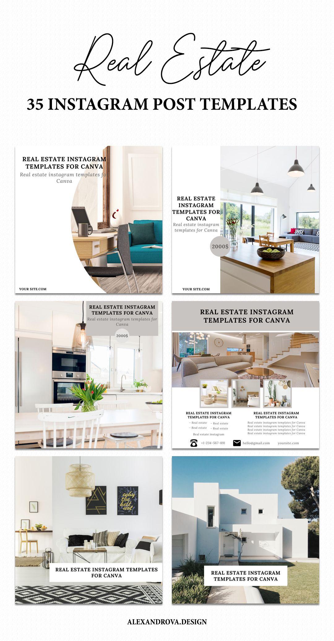 50 Editable Instagram templates for Realtors Real Estate