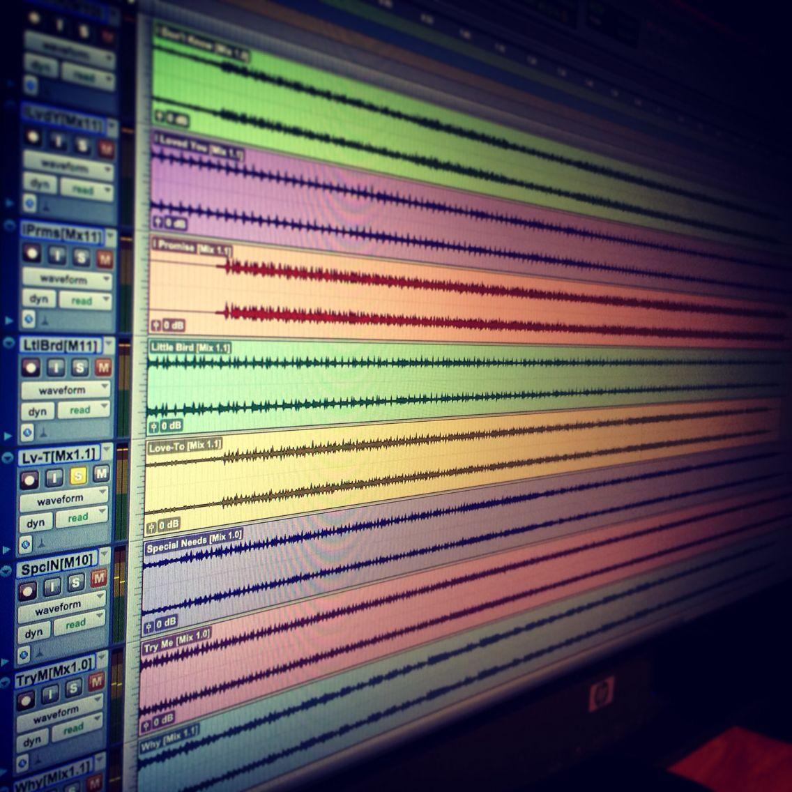 Album mastering at ATonal with Pro Tools. Pro tools
