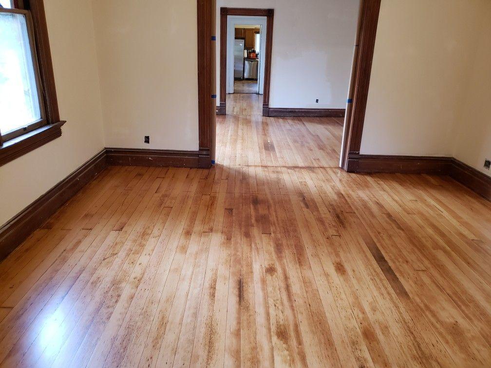 Fir Floor Refinished With A Glitsa