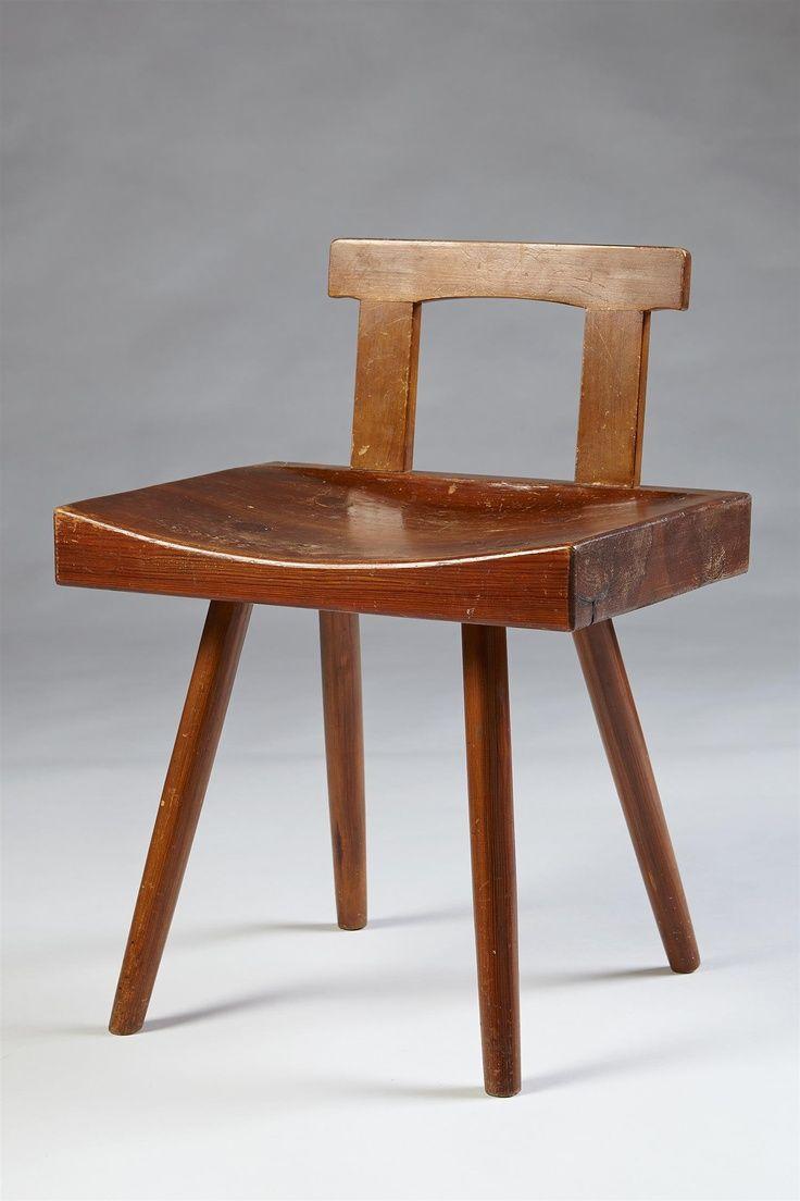 Stuhl Von Bengt Lundgren Schweden Entwickelt 1950er Jahren