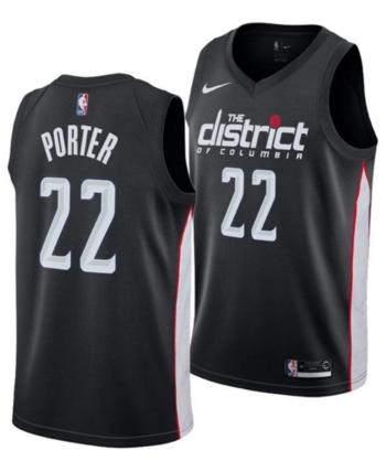 4495f5155 Nike Men s Otto Porter Jr. Washington Wizards City Swingman Jersey 2018 -  Black M