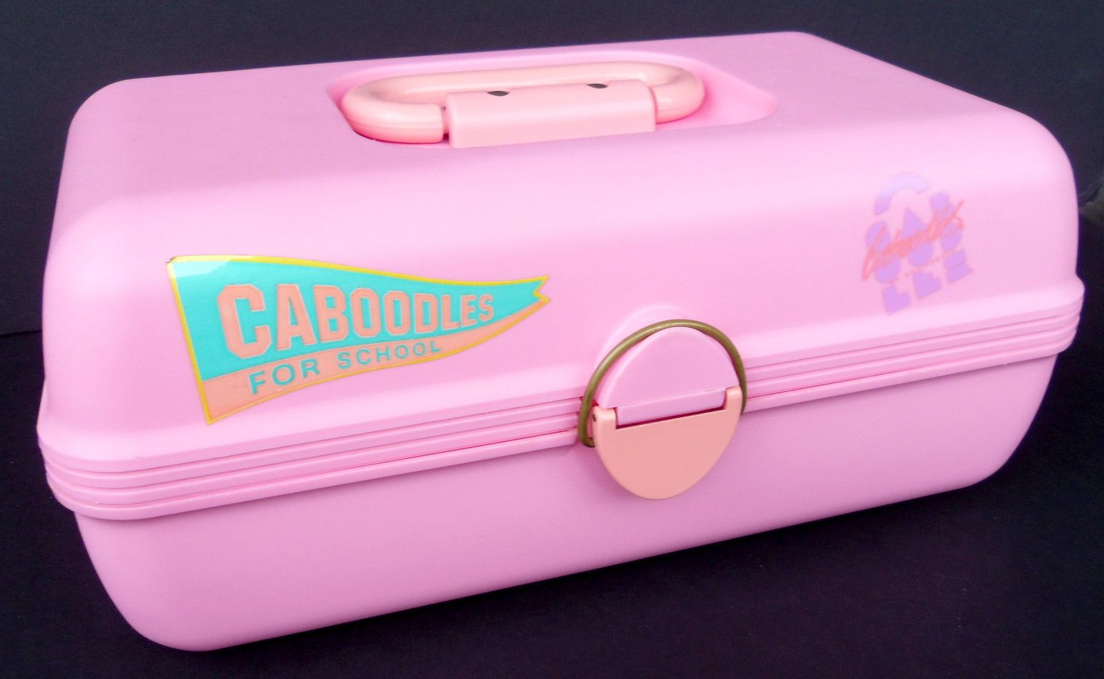 Vtg 80u0027s Caboodles for School Small Pink Makeup Craft Storage Case 12  2602 | eBay & Vtg 80u0027s Caboodles for School Small Pink Makeup Craft Storage Case ...