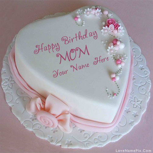 Name Birthday Cake For Mothers With Name Photo