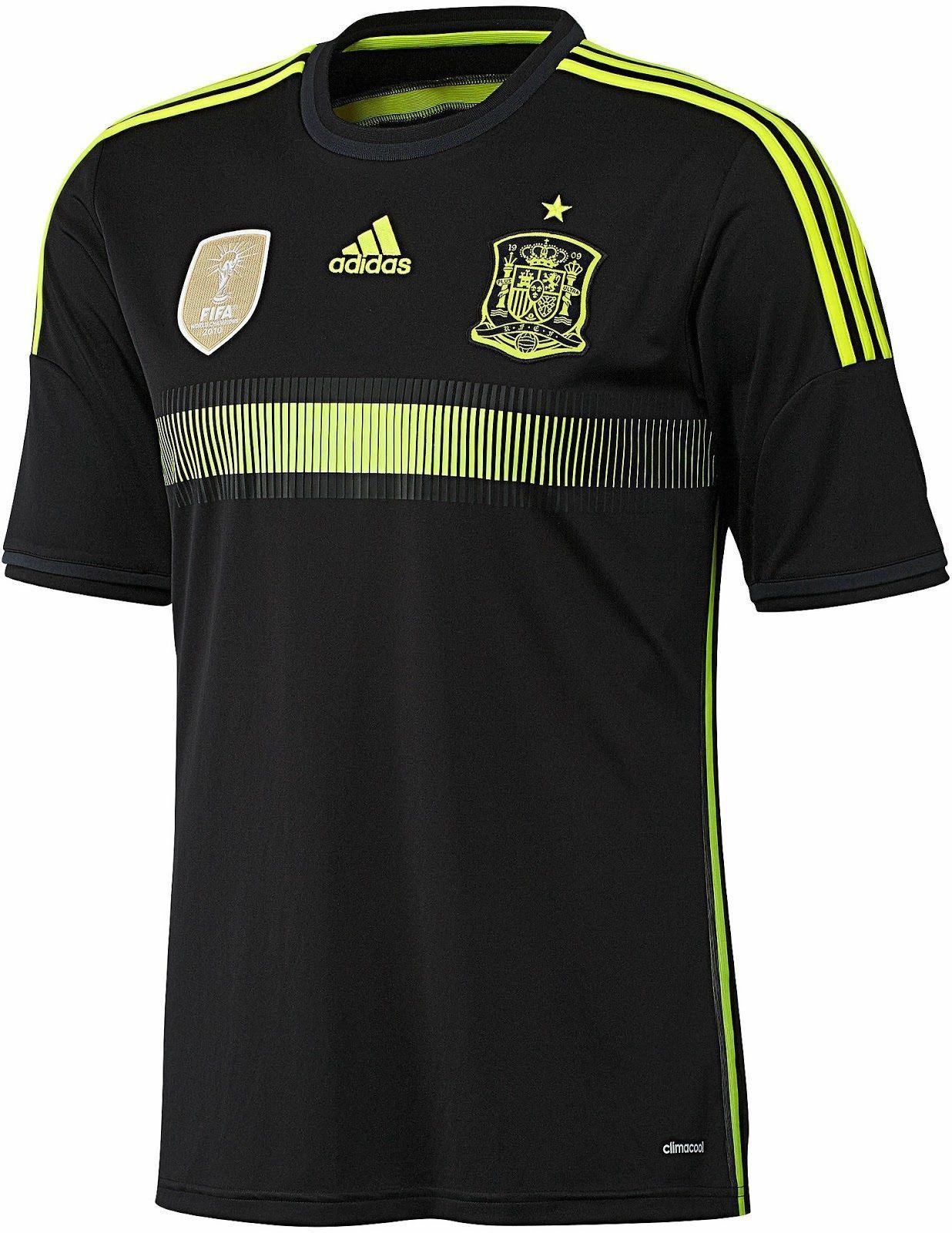 d43cc166192 ADIDAS SPAIN AWAY JERSEY FIFA WORLD CUP BRAZIL 2014 ESPAÑA BLACK/ELECTRICITY