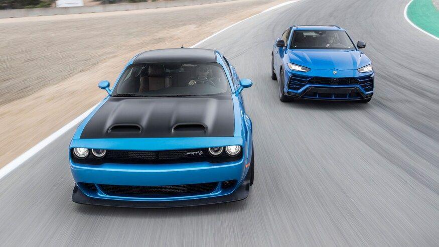 Dodge Challenger Hellcat Redeye Vs Lamborghini Urus Track Battle