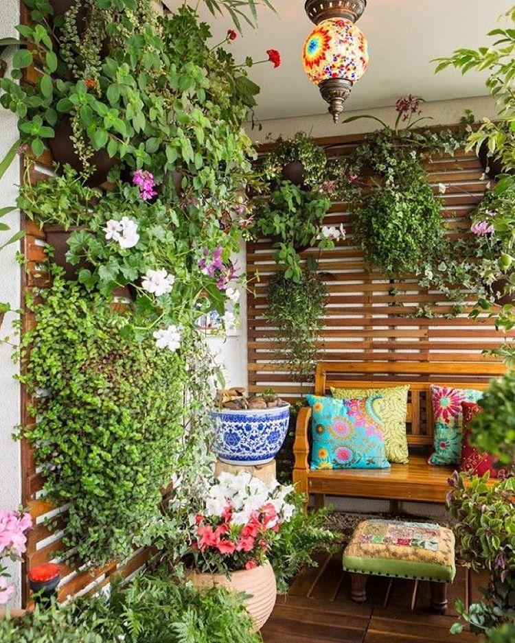 plantas colgantes jardin escondido in 2018 pinterest holzm bel balkon und pflanzen. Black Bedroom Furniture Sets. Home Design Ideas