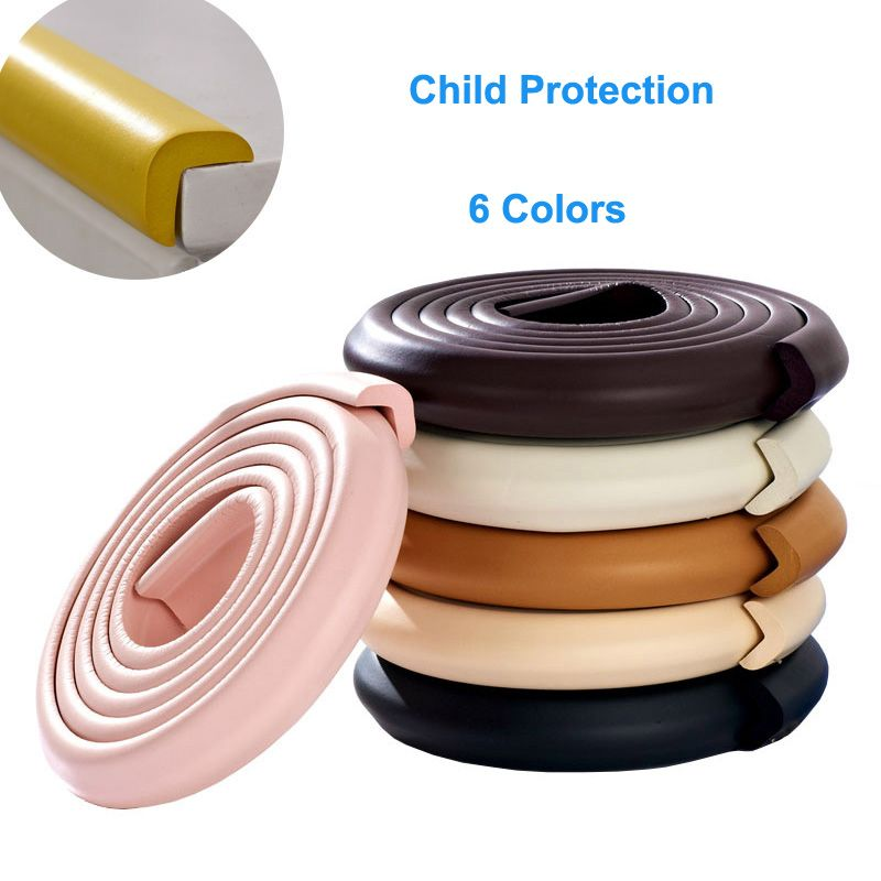 1PC Protective Baby Safety Corners Guards Rubber Protection For Child Table  Protective Bumper Strip Children Safety For Baby