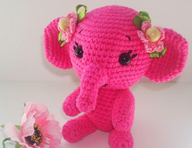 Free crochet elephant pattern   Crocheted Items   Pinterest ...