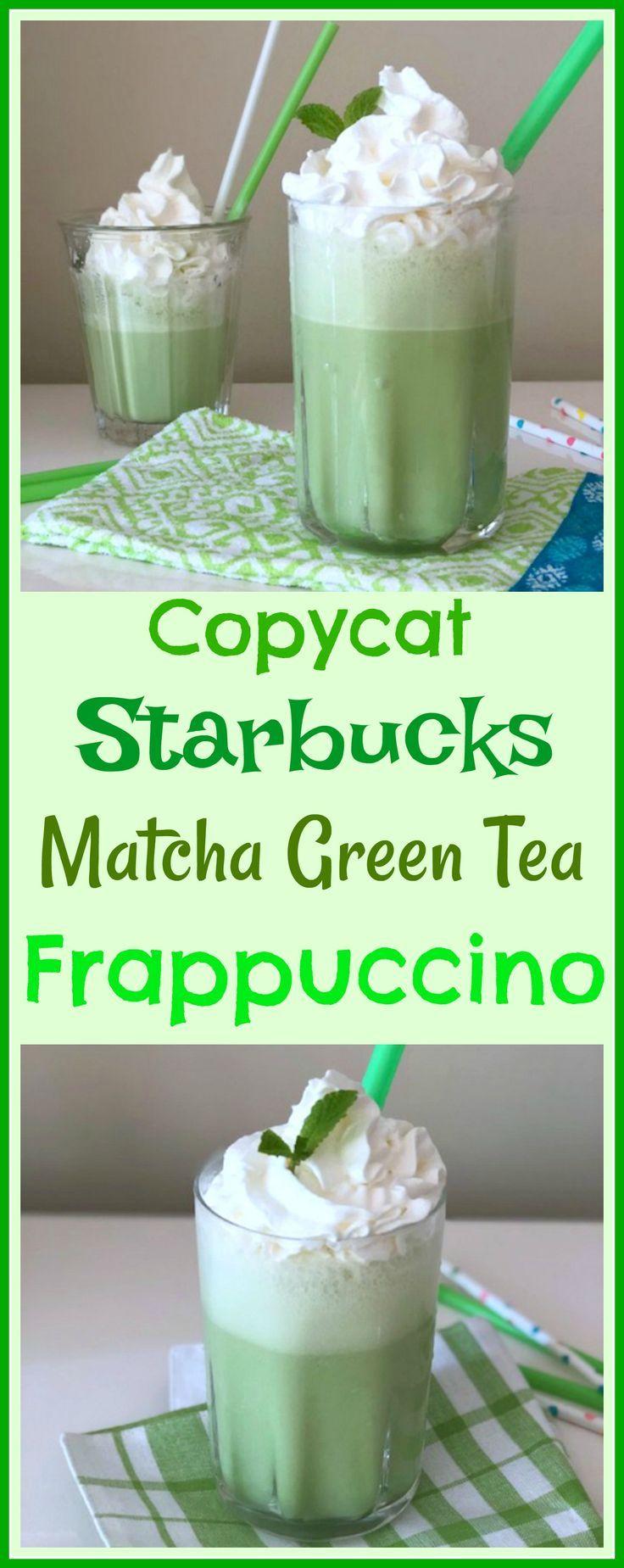 Copycat starbucks matcha green tea frappuccino recipe