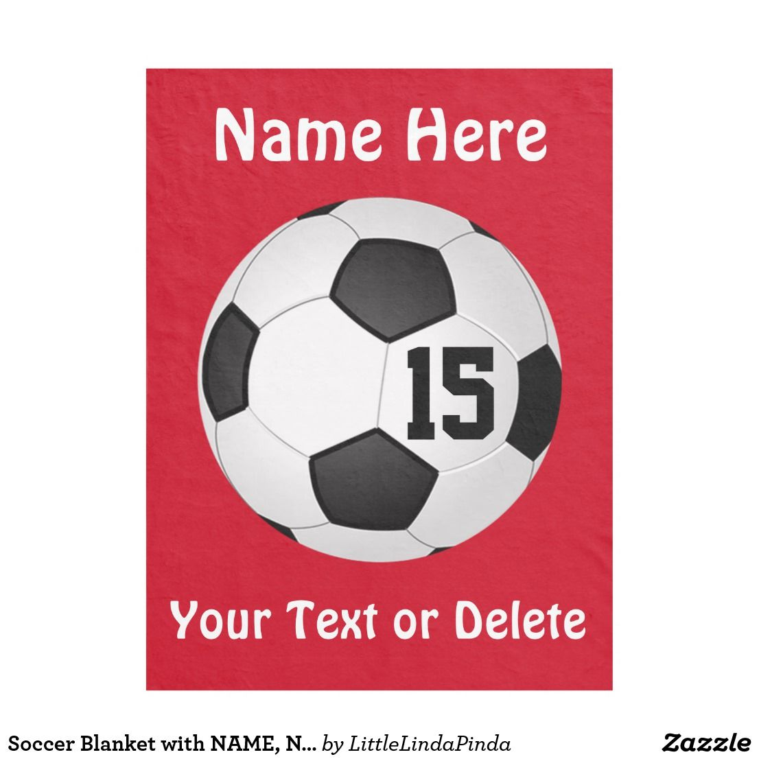 Soccer Blanket With Name Number And Text Zazzle Com Senior Night Gifts Personalized Soccer Team Gifts Soccer