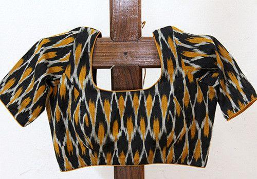 f5183166be6d7c Ikat Blouse Design 5 – Desically Ethnic   Blouses   Blouse designs ...
