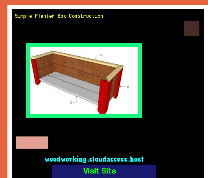 Simple Planter Box Construction 164540 - Woodworking Plans and Projects!