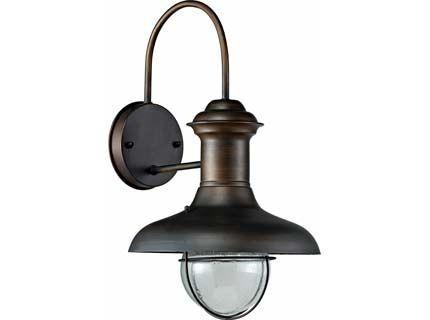 Estoril p lampada da parete marrone ossido idee per la casa