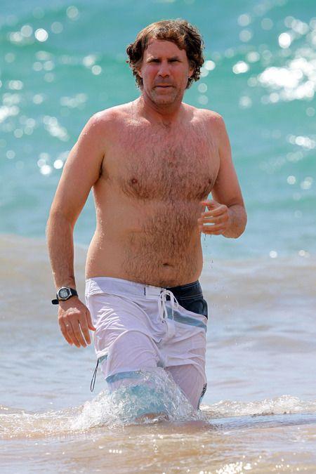 gordo cuerpo en la playa