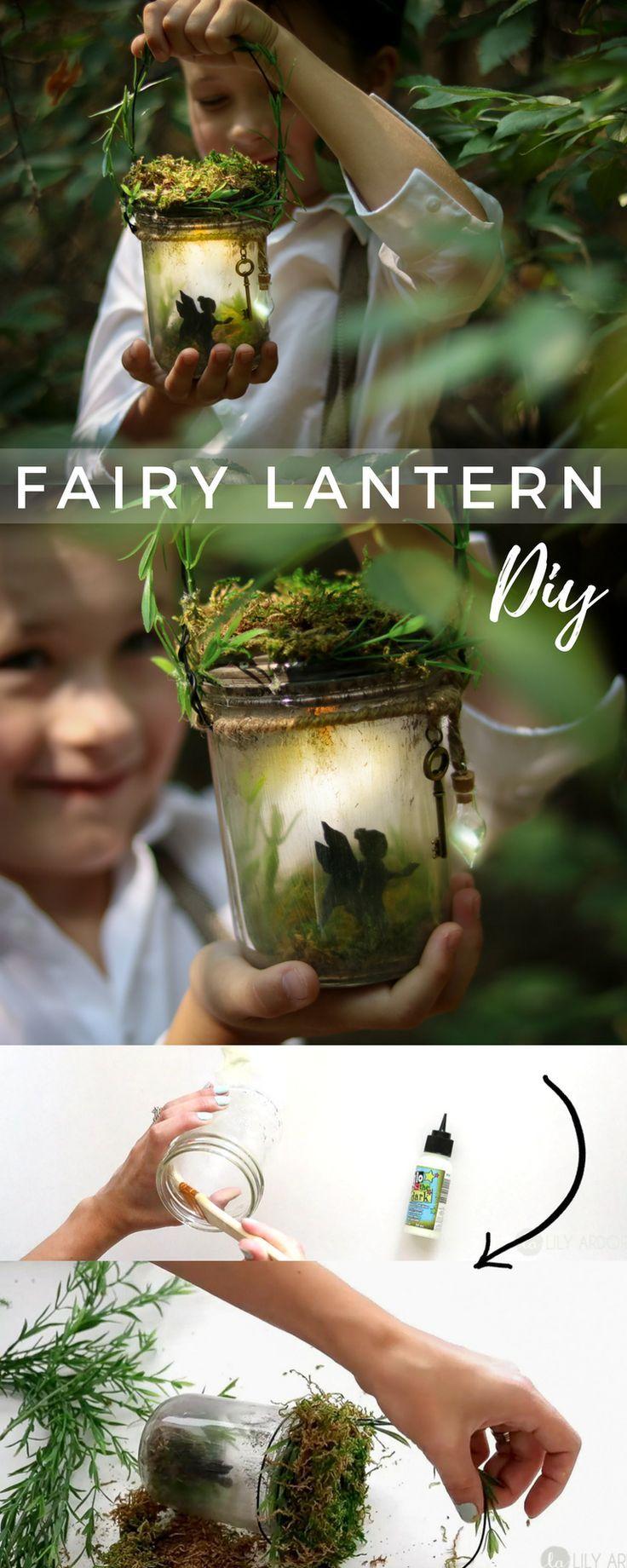 DIY Fairy Lantern Night Light - W/ On - Off Switch - It's fully portable and GLOWS SO PRETTY #diygarten