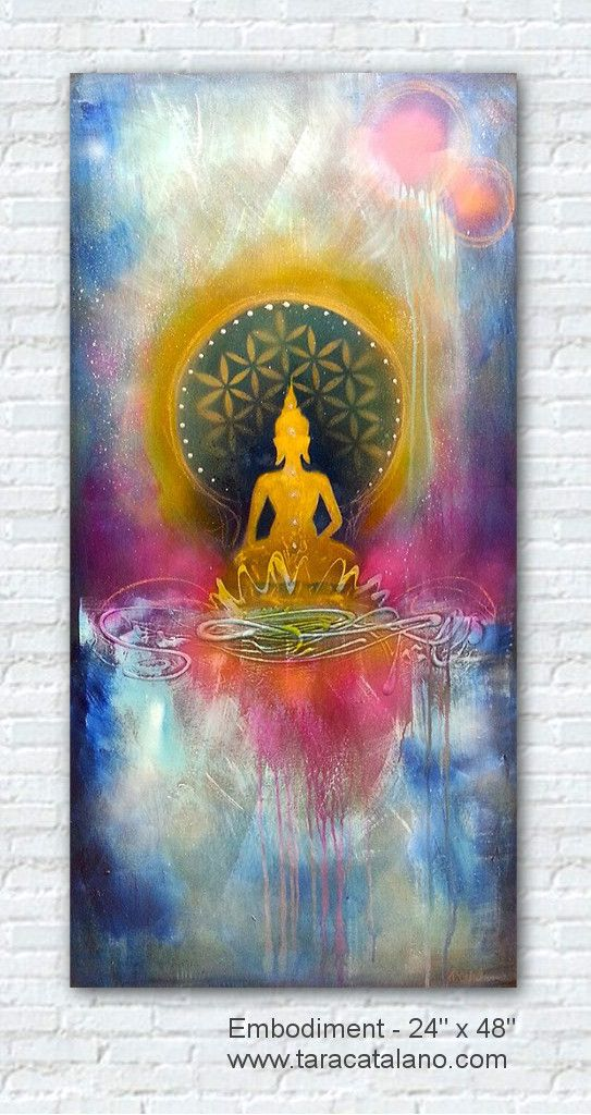 Embodiment 24 X 36 Taracatalano Com Buddhismus Blume Des Lebens Buddha