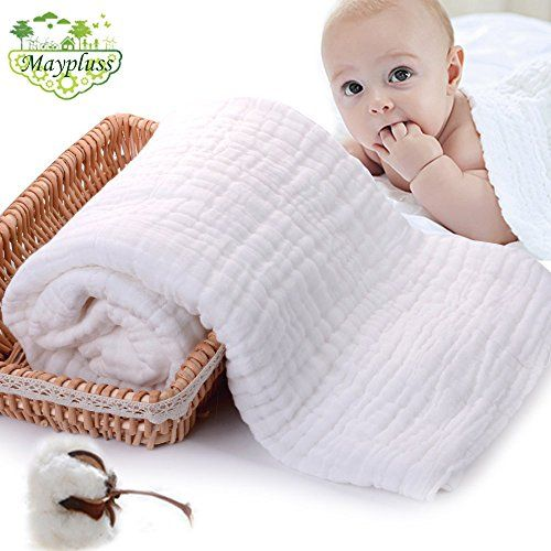 Maypluss 45x 45 Natural AntibacterialSuper Water AbsorbentSuper Soft Muslin Cotton Baby Bath TowelsCare for the baby skinNewborn Muslin Cotton Warm Baby Bath Towels Also for Baby Blanket >>> You can get additional details at the image link.-It is an affiliate link to Amazon.