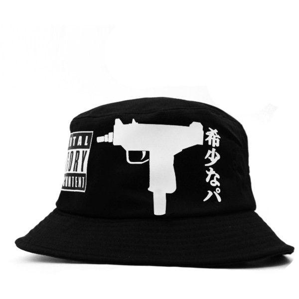 242ae1767 UZI Parental Adivosry Cobra Bucket Hat ($40) ❤ liked on Polyvore ...