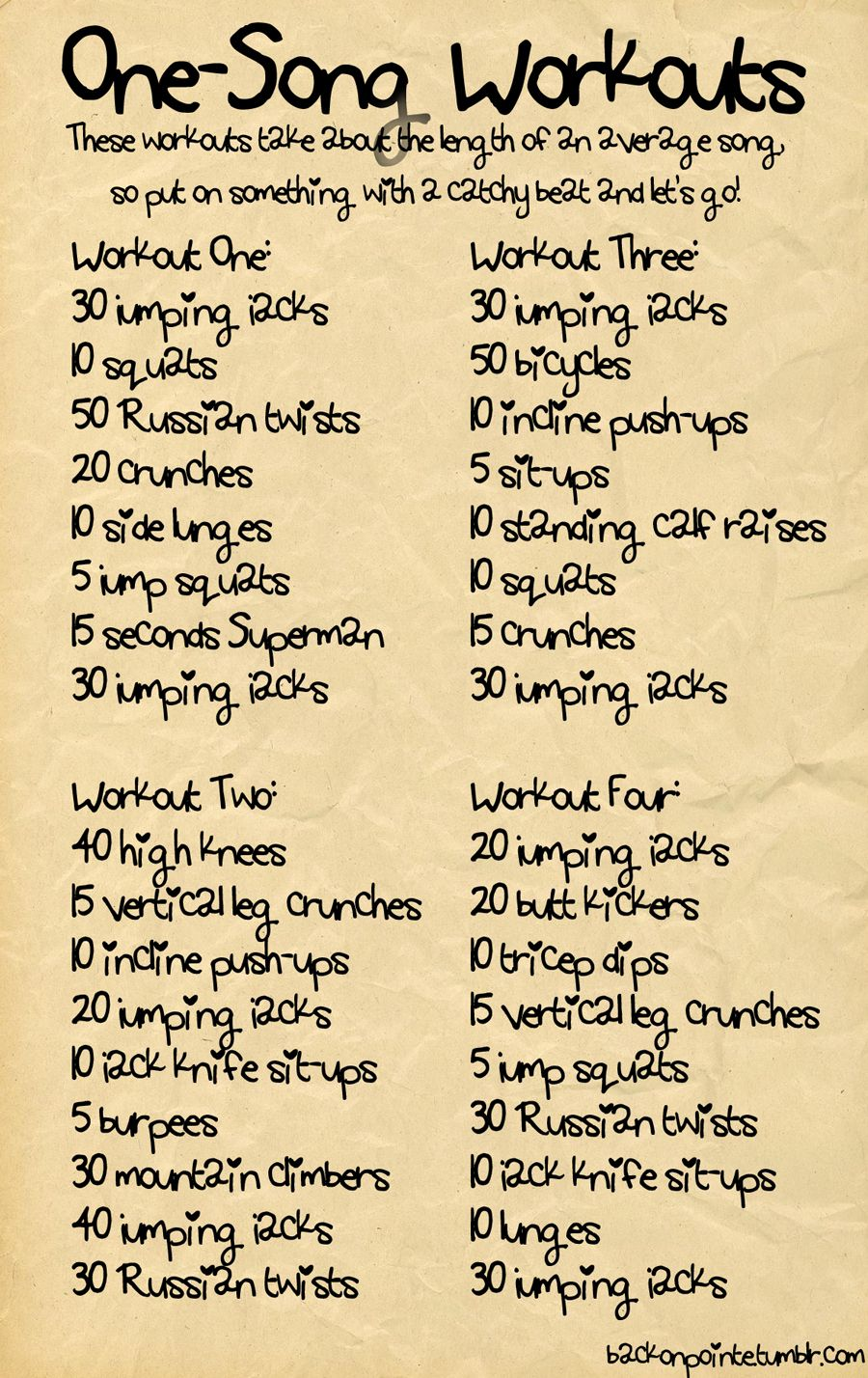 One-Song Workouts: i'll have to try this :)