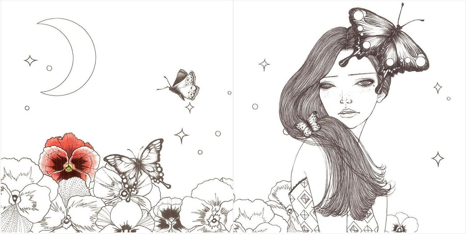 Dream Girl Beauty Coloring Book By Fashion Illustrator Art Therapy Anti Stress