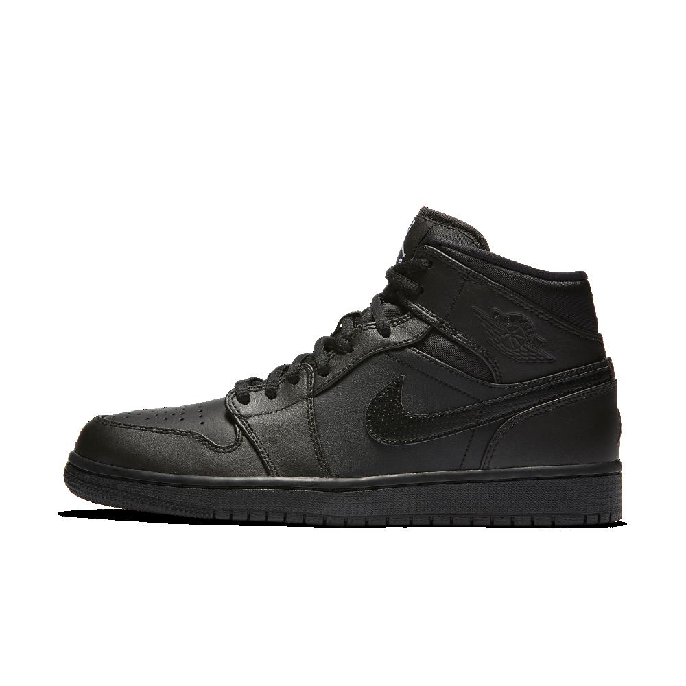 Air Jordan 1 Mid Men's Shoe, by Nike Size 12.5 (Black