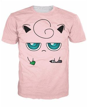 16706af5 Jigglypuff Face T-Shirt Pokemon Characters t shirt Summer style fashion  clothing tees tops women men plus size S-XXL