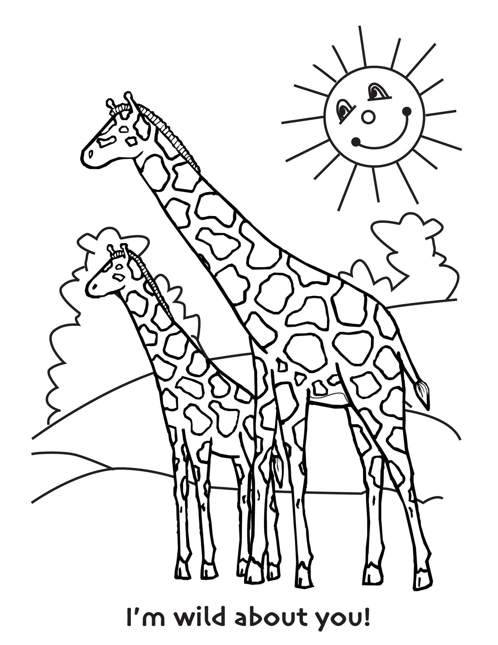 Free Printable Giraffe Coloring Pages For Kids | Baby Shower | Pinterest