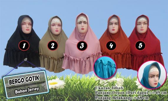 Jilbab Gotik Murah Ukuran Jumbo Dari Jersey Fashion Pinterest