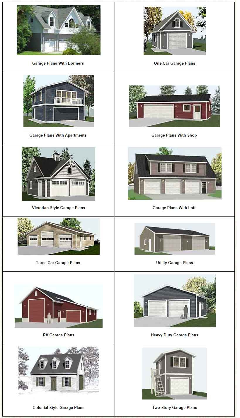 Click to see ALL GARAGE PLANS Piny Pinterest – Two Story Garage Plans Free