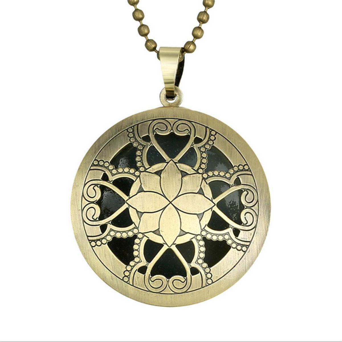 Hollow alloy luminous locket pendant necklace pendants