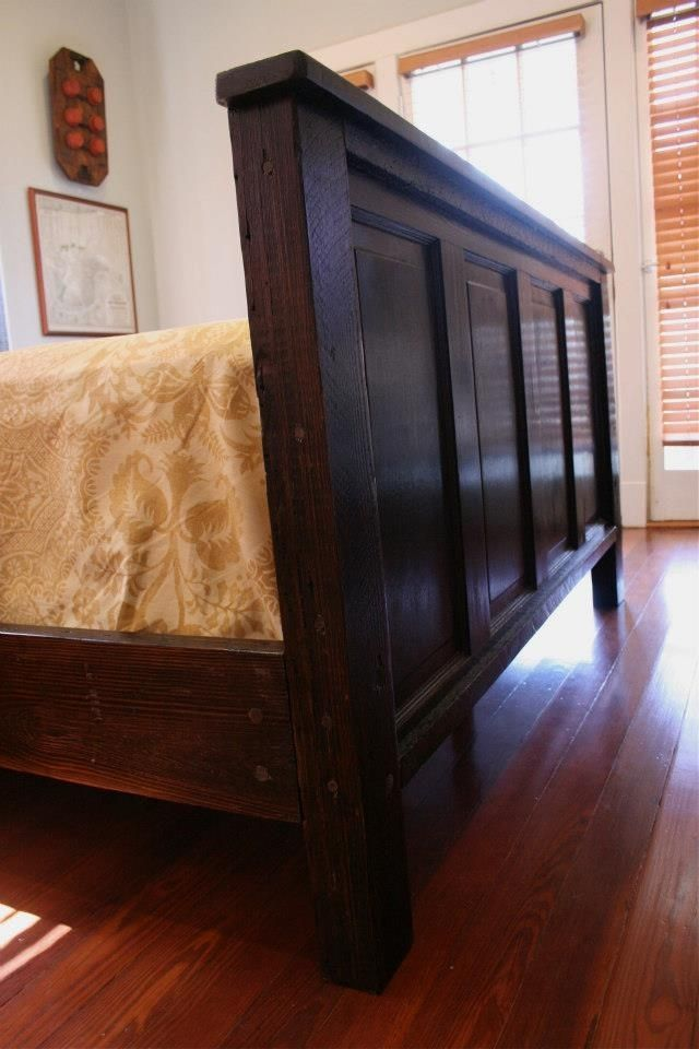 New Orleans Inspired Bed Made From Cypress Doors And Reclaimed Wood