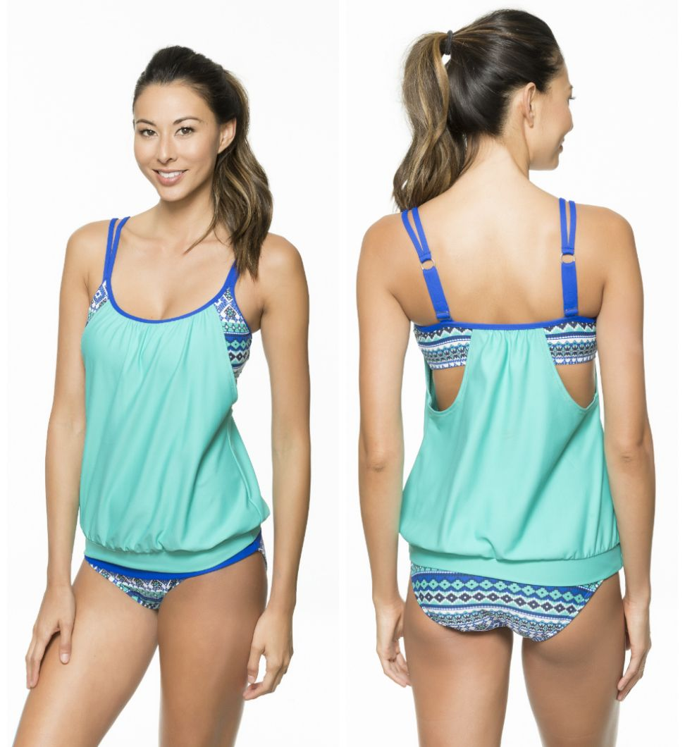 5d914a76b32 NEXT Swimwear Perfection Double Up Tankini // A perfect swimsuit for post-baby  bods!