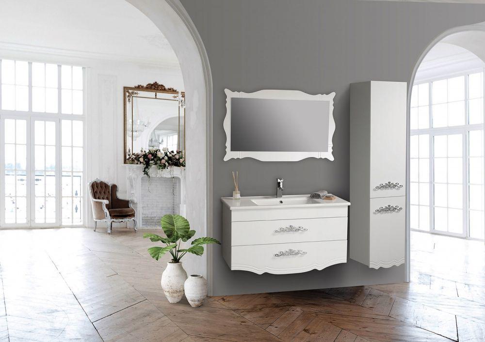 Tekoplus Diva Beyaz 65 Cm Banyo Dolabi Alanlar Modern Banyo