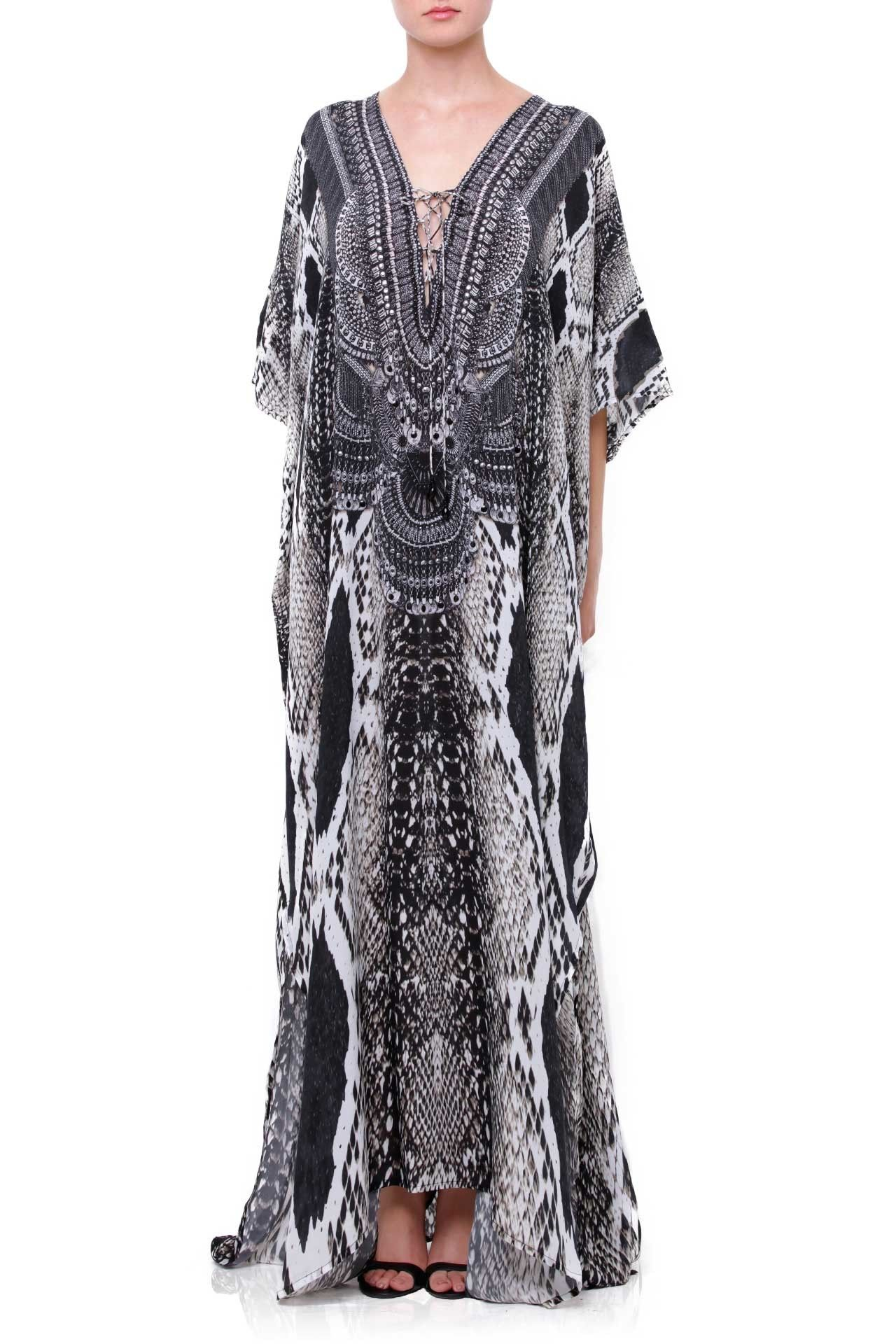 Must Have Kaftans 2018. Snake Print Kaftan Dresses  Luxury Designer Dresses   Up to 50% Off Select Styles - Shahida Parides® 87c68786df8
