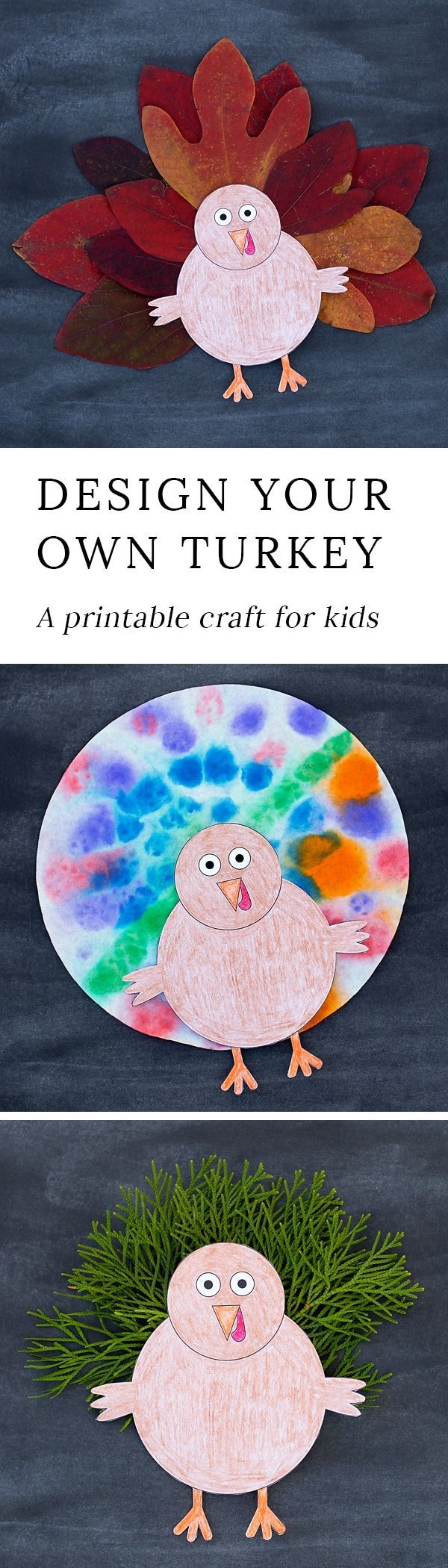 Design Your Own Thanksgiving Turkey Craft for Kids - Fireflies and Mud Pies -